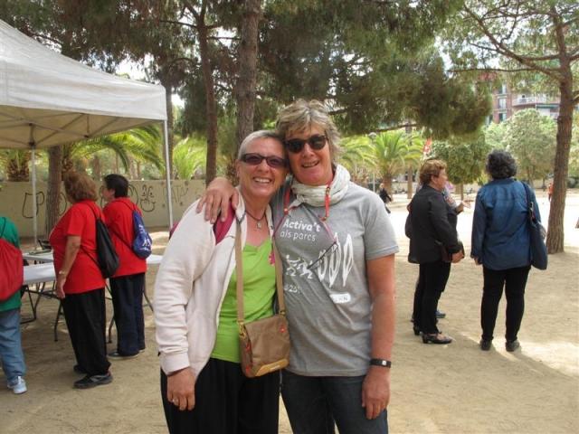 Ana Bonet, monitora de Tai-txi y Maite Carroggio, coordinadora de AESSG