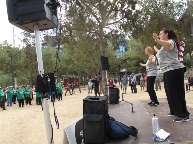 monitores de Tai-txi dirigint als participants